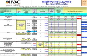 Worksheets Hvac Residential Load Calculation Worksheet hvac learning solutions load calculation short form spreadsheet form